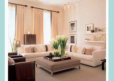 Wohnzimmereinrichtung Ideen Braun Creme Wohnkche Essbereich