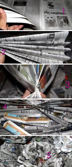 #DIY: Newspaper Flowers | Live Colorful #Recycling