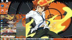 This page about Free Download themes windows //7 //seven// 肌//テーマ//画題//窓//ウィンドウ//七つ//skin// Tsuna Sawada// Katekyo Hitman Reborn// 家庭教師ヒットマン Reborn Katekyo Hitman, Hitman Reborn, Theme Anime