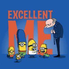 Excellent Me by Harantula, Despicable Me, Simpsons, Minions, mashup