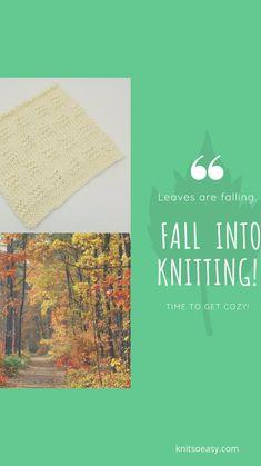 Fall Knitting, Getting Cozy, Fall Crafts, Knit Crochet, Knitting Patterns, Autumn Crafts, Knit Patterns, Ganchillo, Knitting Stitch Patterns