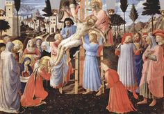 Fra Angelico, Deposition from the Cross (Pala di Santa Trinità), 1437-40, Museo di San Marco, Florence