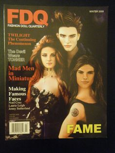 FDQ Making Famous Faces Twilight dolls Edward, Bella, Jake