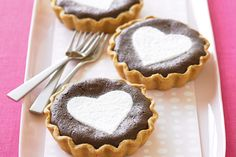 Chocolate heart tarts #ValentinesDay http://www.taste.com.au/recipes/19002/chocolate+heart+tarts