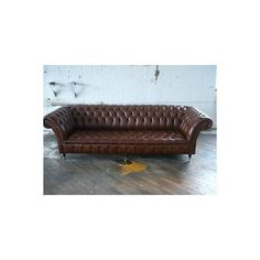CHESTERFIELD SOFA HANDMADE MODERN LEATHER COUCH CHAIR ❤ liked on Polyvore