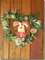 Felt bunny easter wreath