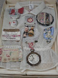 Brooches display: Julie Arkell