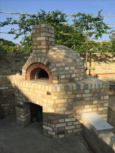 Finished pizza oven