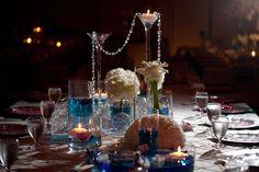 Reception centerpiece by Kebbie Hollingsworth Floral Design