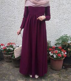 Hijab Style, Hijab Chic, Islamic Fashion, Muslim Fashion, Abaya Fashion, Fashion Dresses, Hijab Evening Dress, Hijab Dress, Dress Outfits