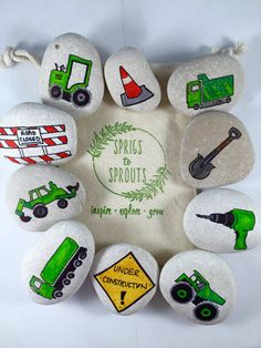 Story Stones: Construction Edition di SprigsToSprouts su Etsy