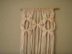 Macrame butterfly wallhanging