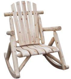 Leco 29420799 Rocking Chair en Bois Rond Epicéa