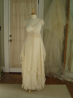 Fairy Ethereal Wedding Gown by hippiebride on Etsy