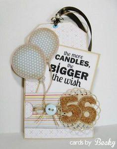 Happy Birthday Gift Tag My Favorite Things MyFavoriteThings MFT  Stamp Die Die-Namics Blog: www.CardsByBecky.blogspot.com