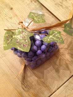 Chocolate wine grapes favor made for my mother in laws winery tour birthday party #majerlegrace