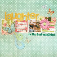Laughter by Zoe Pearn @ scrapbook.com