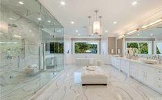 Blackvelvet #fiksipenggemar # Fiksi Penggemar # amreading # books # wattpad Luxury Master Bathrooms, Modern Master Bathroom, Bathroom Design Luxury, Dream Bathrooms, Dream Rooms, White Bathrooms, Minimalist Bathroom, Dream House Interior, Luxury Homes Dream Houses