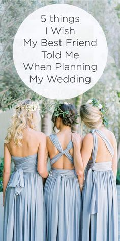 Don't miss out on these awesome wedding planning tips! 5 Things I Wish My Best Friend Told Me When Planning My Wedding