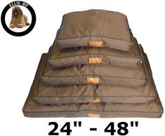 Ellie-Bo Waterproof Dog Beds in Brown - Tailor made to fit cages and crates - fits Small Cage) Tough Dog Beds, Waterproof Cushions, Dog Cages, Dog Shampoo, Pet Supplies, Crates, Outdoor Blanket, Puppies, Brown