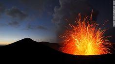 Mount Yasur puts on fiery displays on Tanna Island in Vanuatu.