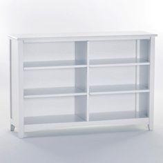 Schoolhouse Horizontal Bookcase White 7568 Kids Bookshelves