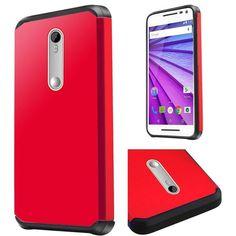 Insten Hard PC/ Silicone Dual Layer Hybrid Rubberized Matte Case Cover For Motorola Moto G