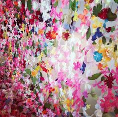 FOR BIRTHDAY OCTOBER 2013 | Welcome memento 1 per guest and Hawaiian leis backdrop curtain for photos