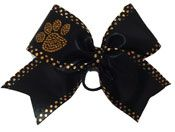 Come check out our cheerleading bows at CheerBowsEtc.com. We have custom paw print cheer bows that are perfect for competition cheerleading!