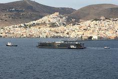 Στο Νεώριο για επισκευή η πλωτή δεξαμενή του Πολεμικού Ναυτικού