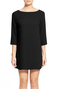 Free shipping and returns on Leith Boatneck Crepe Shift Dress at Nordstrom.com…