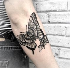 Traditional black butterfly tattoo - # check more at . - Traditional Black Butterfly Tattoo – # Check more at …. Hand Tattoos, 13 Tattoos, Elbow Tattoos, Neue Tattoos, Black Tattoos, Body Art Tattoos, Small Tattoos, Arm Tattoo, Tatoos