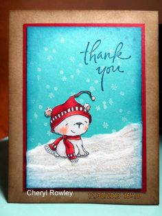 Icicle Thank You! by cheryl l rowley - Cards and Paper Crafts at Splitcoaststampers