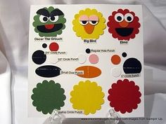 monsters (Sesame Street characters made from punches - too cute! - dp)