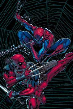 deadpool vs spiderman | deadpool vs spiderman by !wolverinefan97 on deviantART