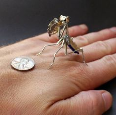 Delicate steampunk insects made of old watches – Us Vs Th3m