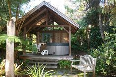 Hot Tub at Volcano Teapot Cottage  Ranked #1 of 16 Specialty Lodging in Volcano on the Big Island of Hawaii