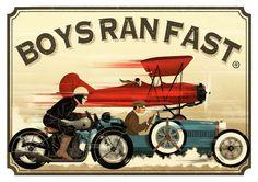 Cafe Racers, Artwork & Artists Vintage Race Car, Vintage Bikes, Vintage Motorcycles, Posters Vintage, Art Deco Posters, Retro Ads, Vintage Advertisements, Car Prints, Bike Poster