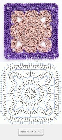 Square Motif - Free Crochet Diagram - (knitplanet)