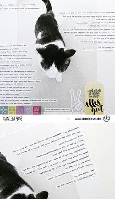von einem, der auszog und 2 Nächte in der Tierklinik verbringen musste... | Katzen-Layout mit dem Junikit + Printables | von Dani für www.danipeuss.de