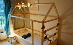 DIY: converting IKEA Kura into a house bed ›vaterjahre.de - DIY: converting IKEA Kura into a house bed › fatheryears.de DIY: converting IKEA Kura into a hous - Kura Cama Ikea, Ikea Kura Hack, Kura Bed, Ikea Hacks, Ikea Bedroom, Girls Bedroom, Lego Bedroom, Childs Bedroom, Kid Bedrooms