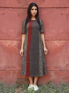 Size Chart (in inches) - These are garment measurements. Length of the kurta is S - Chest : Waist : Shoulder : Sleeve Length : 11 M - Chest Silk Kurti Designs, Kurta Designs Women, India Fashion, Ethnic Fashion, Kurta Cotton, Kurta Patterns, Casual Dresses For Women, Clothes For Women, Ladies Fancy Dress