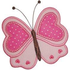 Valentine butterfly Applique