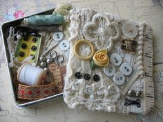 altered sewing box