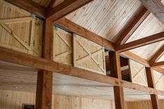 Clever barn storage via Barn Kings