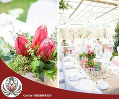 Bofberg Flowers specialize in cut Fynbos flowers and are known for our arrangements and design of wedding bouquets and table pieces. Contact us at 0828064359 for advice and delivery of the flowers for your dream day. Protea Centerpiece, Rustic Wedding Centerpieces, Wedding Decorations, Table Decorations, Protea Wedding, Wedding Bouquets, Wedding Flowers, Daytime Wedding, Successful Marriage