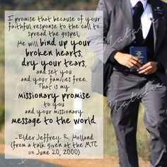 Etsy - Missionary Quote Elder Jeffrey Holland He will Bind up your broken hearts, dry tears LDS Mormon Instant Download Printable Downloadable JPG