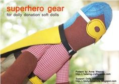 Free pattern: Superhero gear for Dolly Donations dolls · Sewing | CraftGossip.com