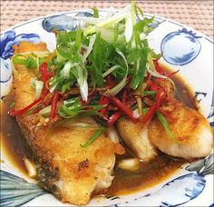 My Little Cookery Book: Happy Call Pan Recipe - Pan-Fried Fish with Soy Sauce