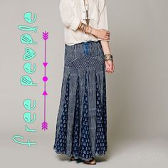 ✨Free People Maheya Blue City Maxi Free People Maheya Blue City Maxi. This gorgeous mixed print skirt has a full and swingy fit. Waistband has four snaps and an adjustable drawstring. Size is a small. ✨Like New✨Only worn once. ✨Make me an offer! Free People Skirts Maxi